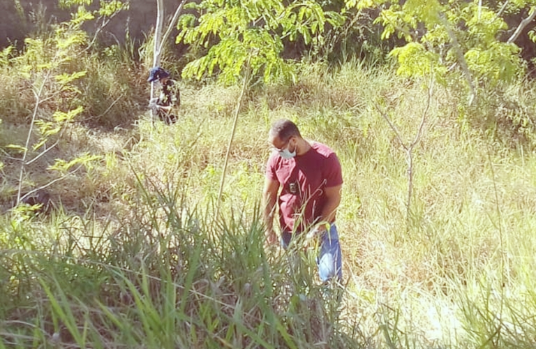 O corpo foi encontrado na  tarde desta sexta-feira